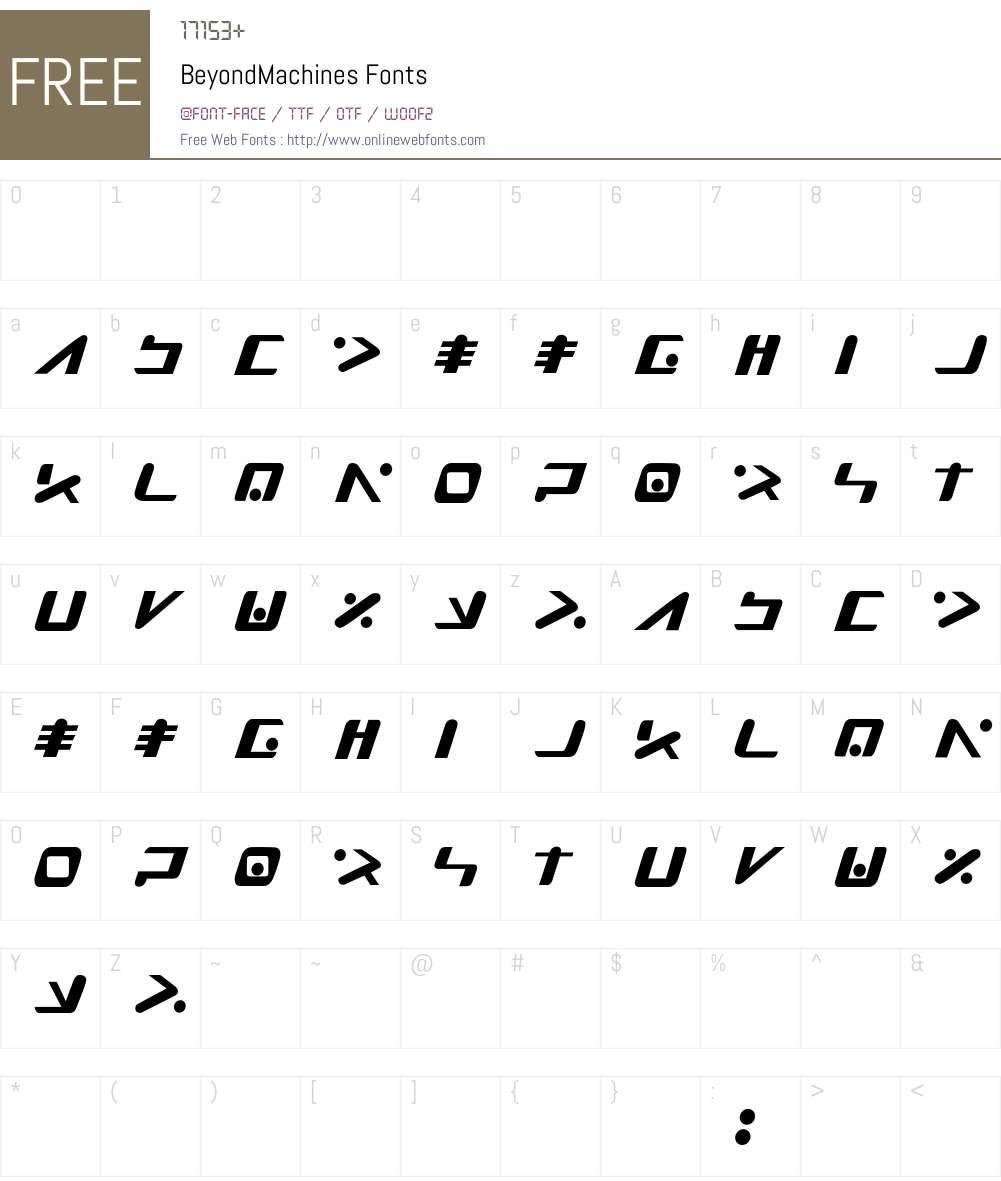 BeyondMachines Font Screenshots