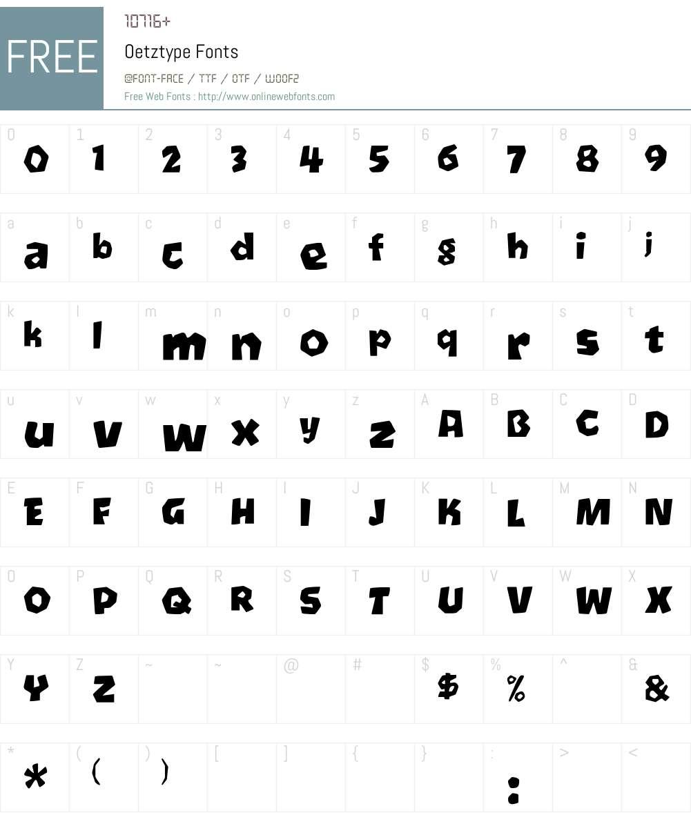 Oetztype Font Screenshots