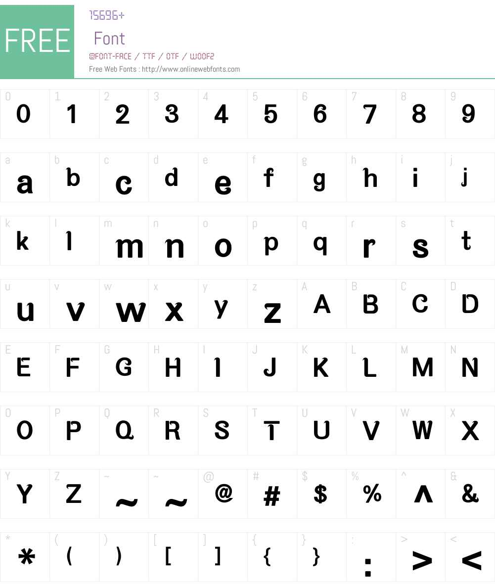 M Qing Hua HK Font Screenshots
