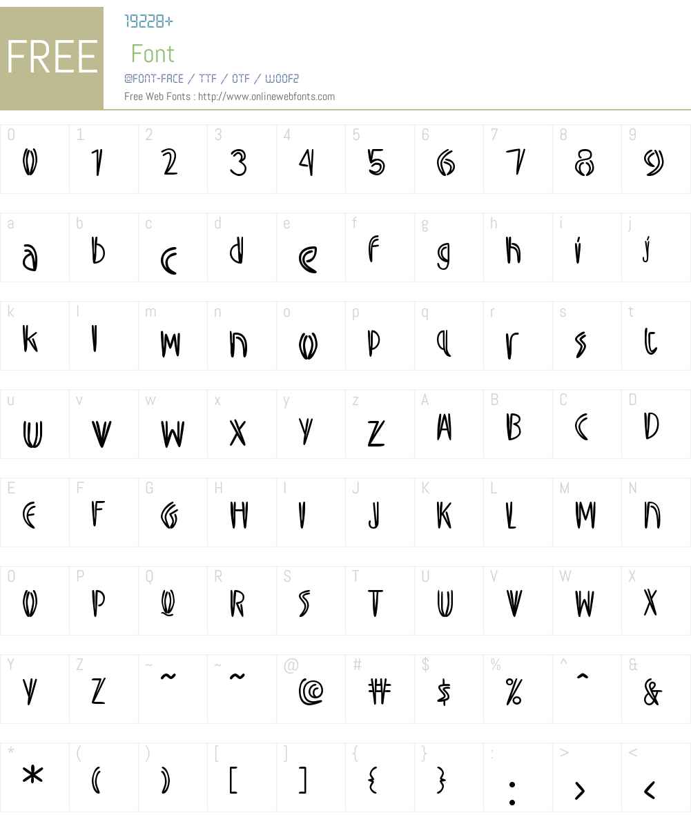 SwizzleW00-Regular Font Screenshots