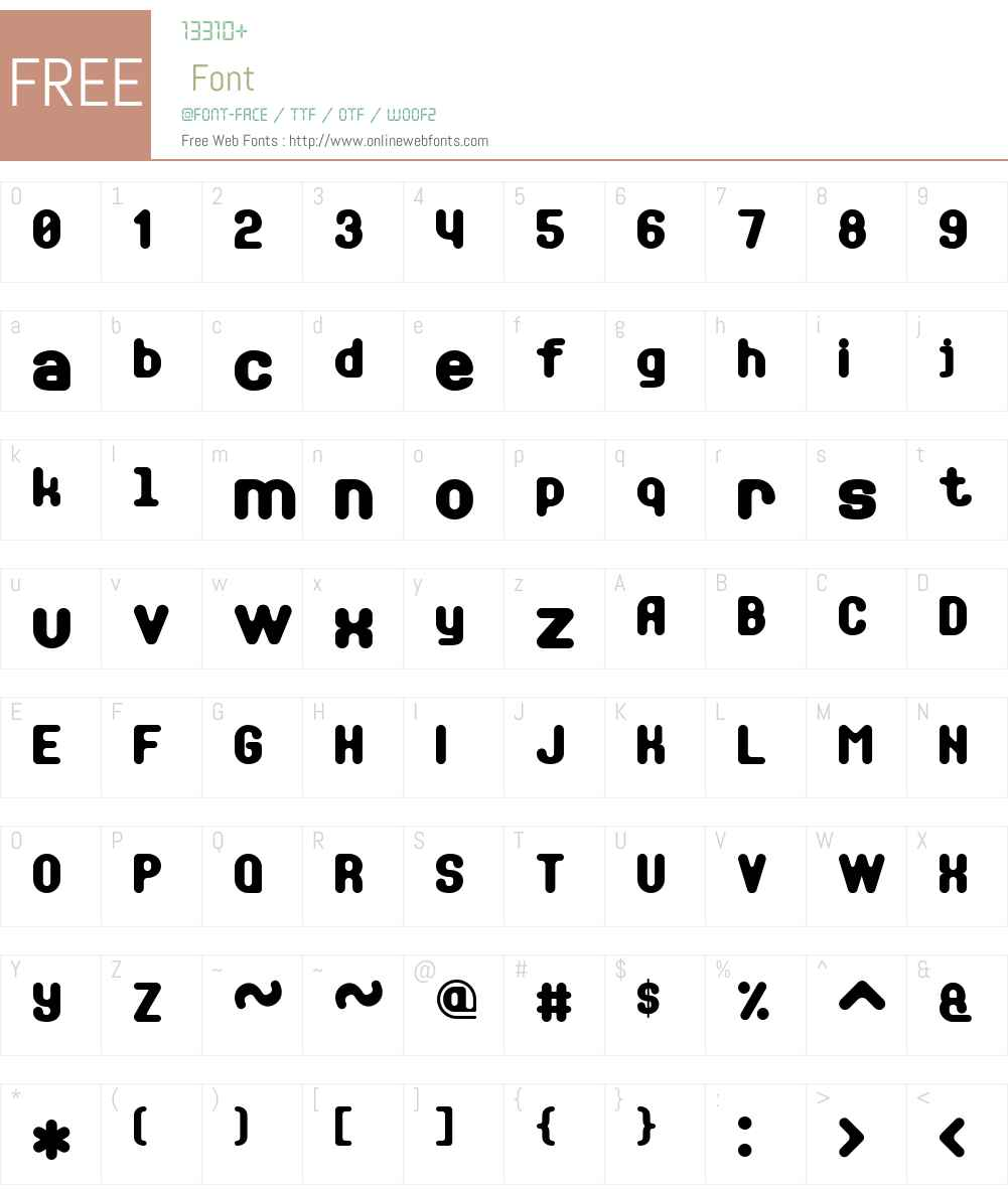 Soft Sans Serif 7 Font Screenshots
