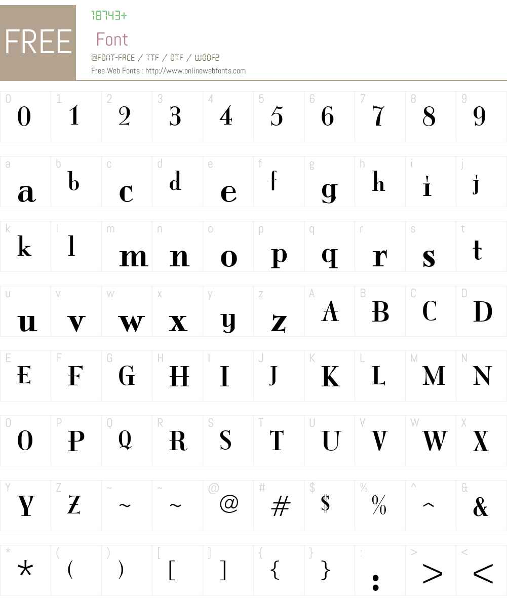 ItingOpti Font Screenshots