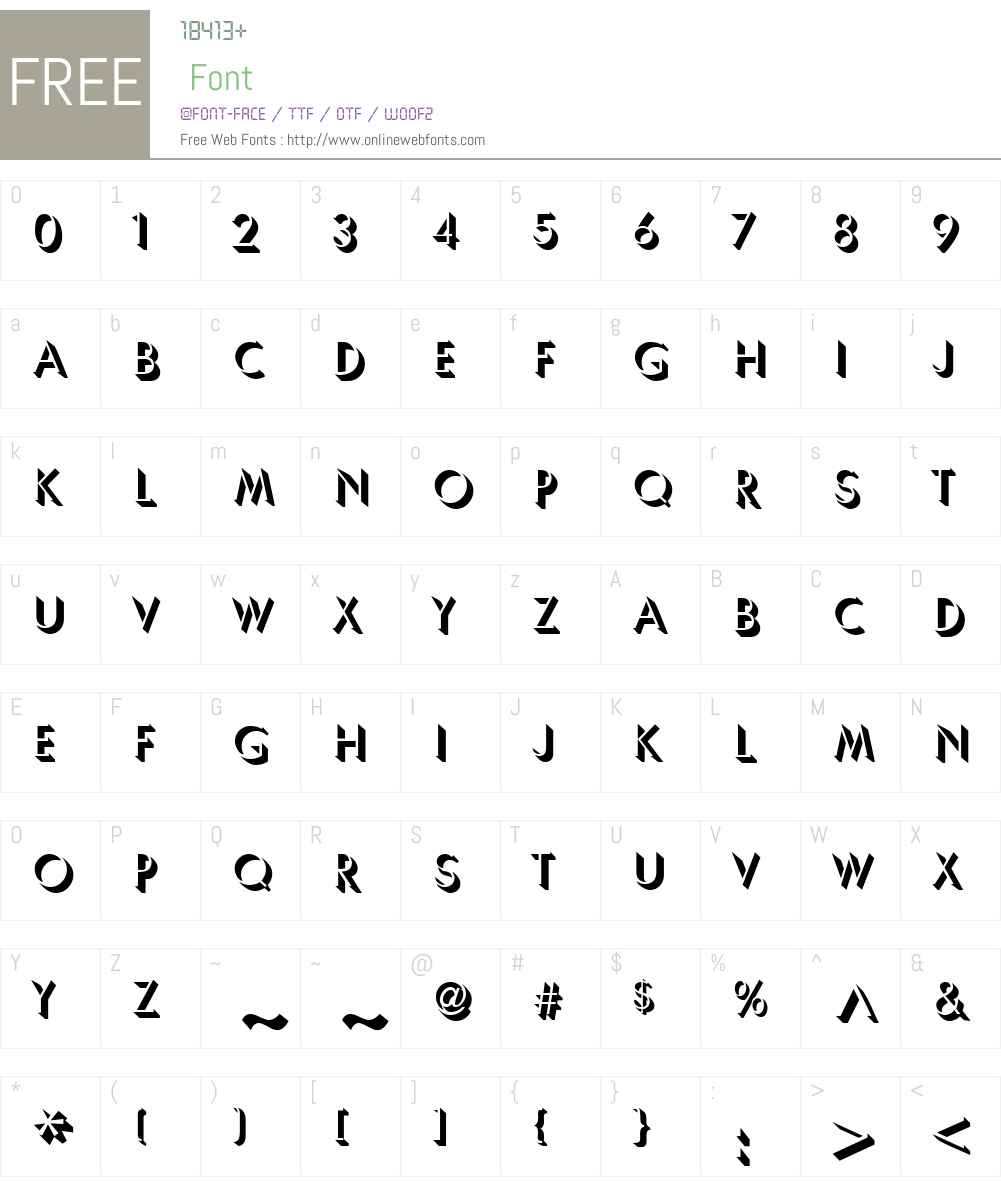 Usambara Font Screenshots