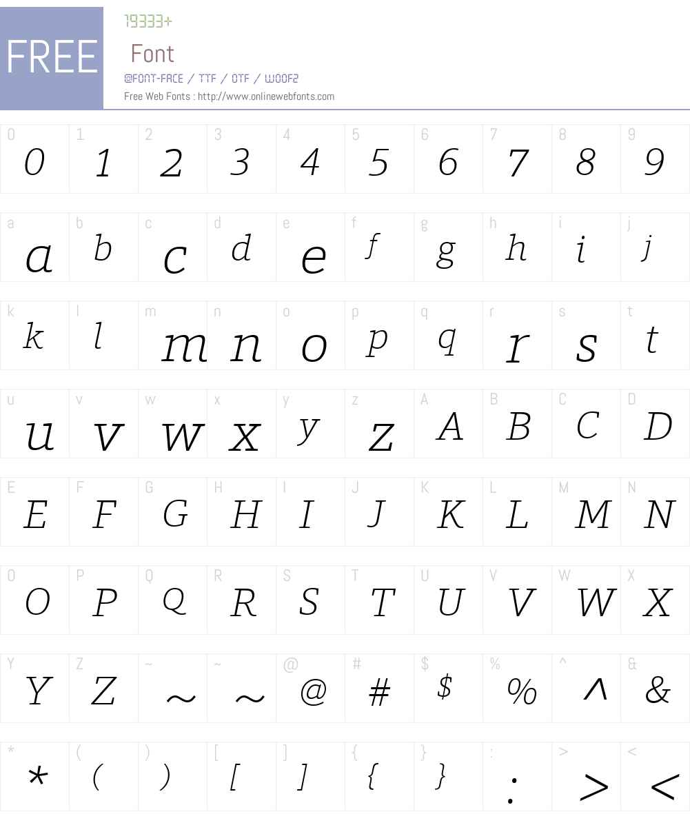 ForoW01-ExtraLightItalic Font Screenshots