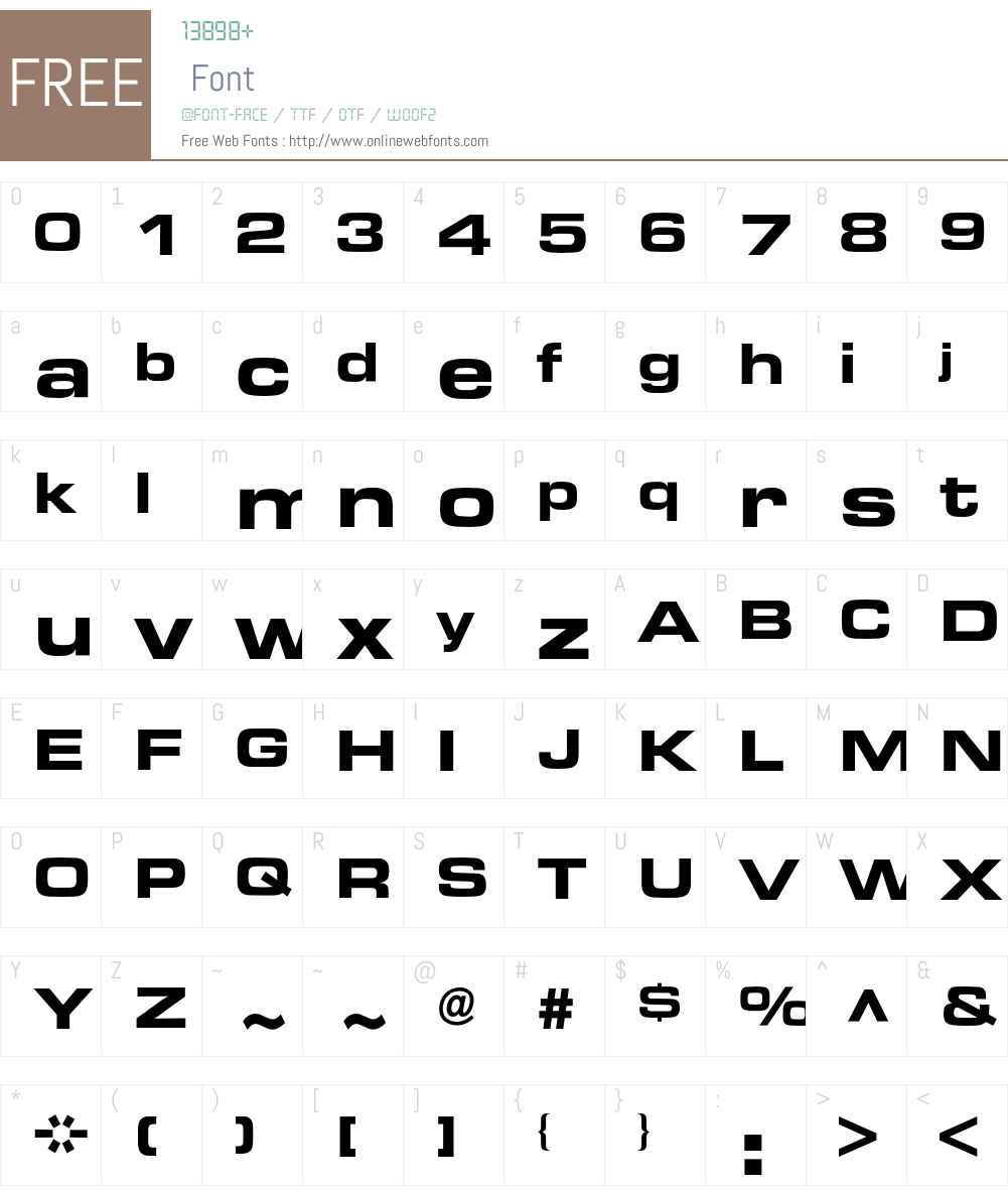 Eurostile BQ Font Screenshots