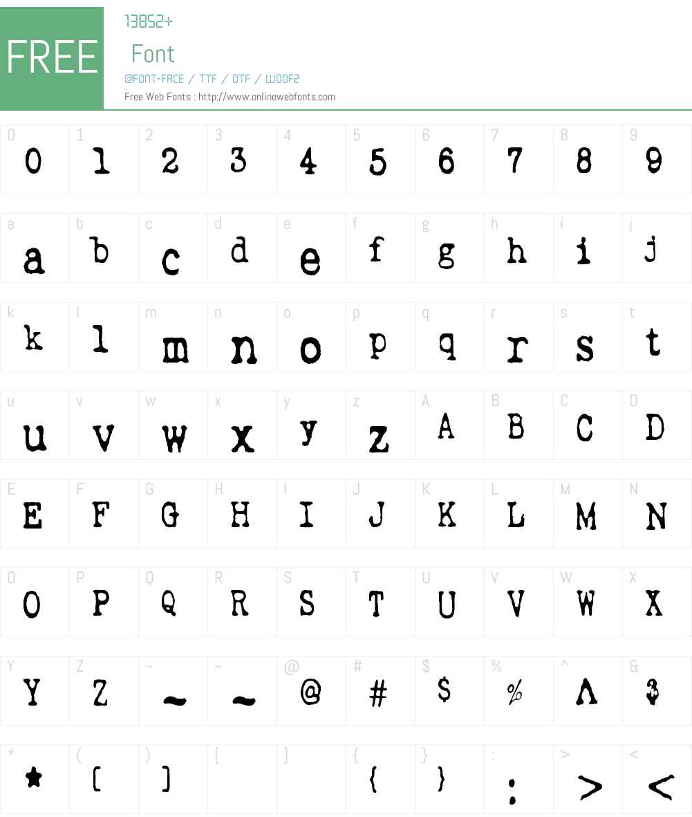 Wripetyter Font Screenshots