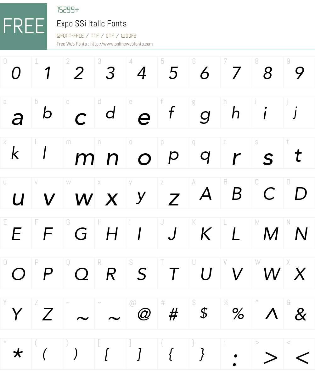 Expo SSi Font Screenshots