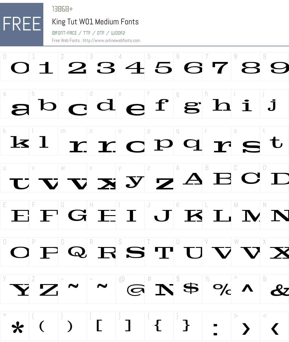 King Tut Font Screenshots