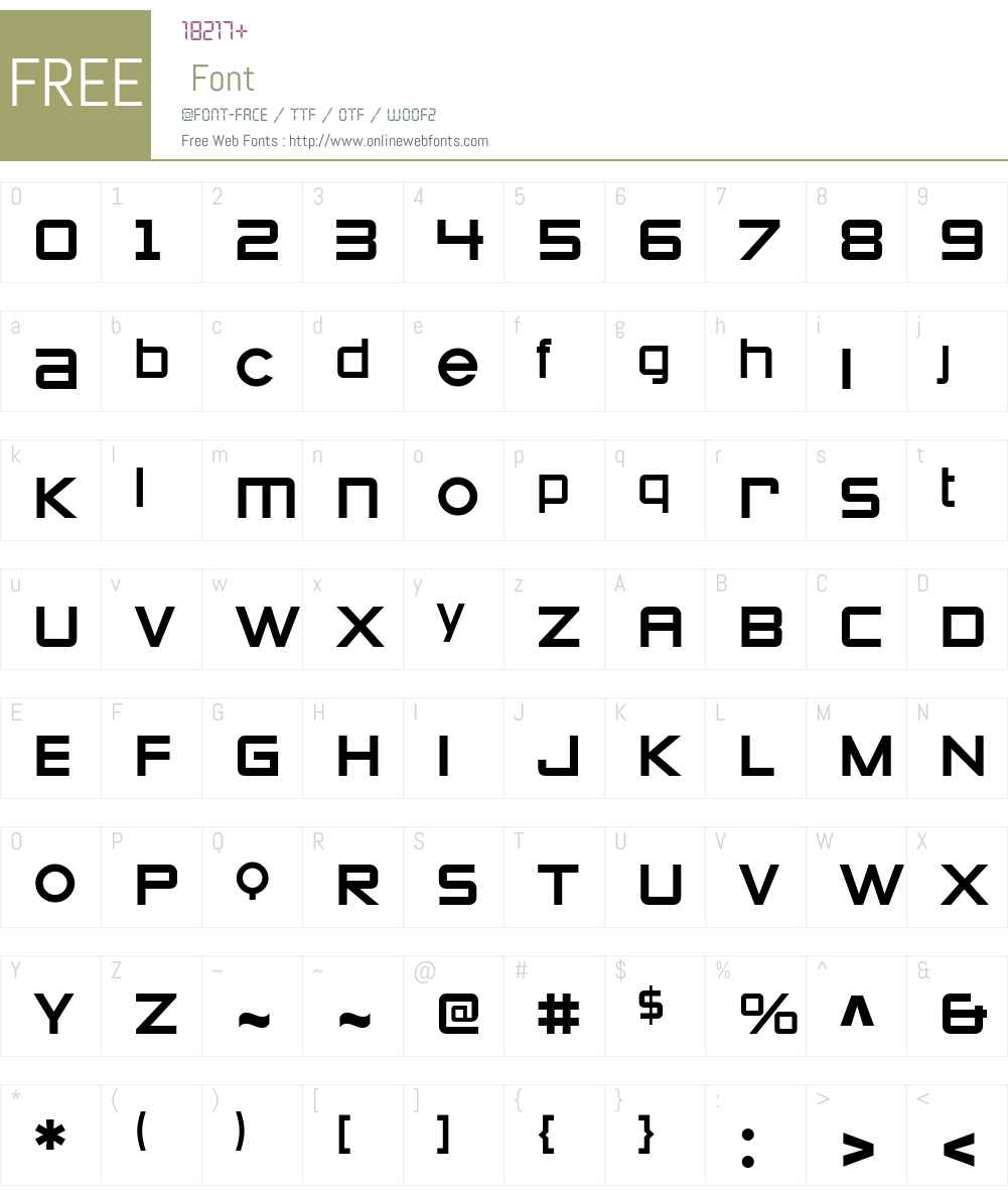 Zeroes 1 Font Screenshots