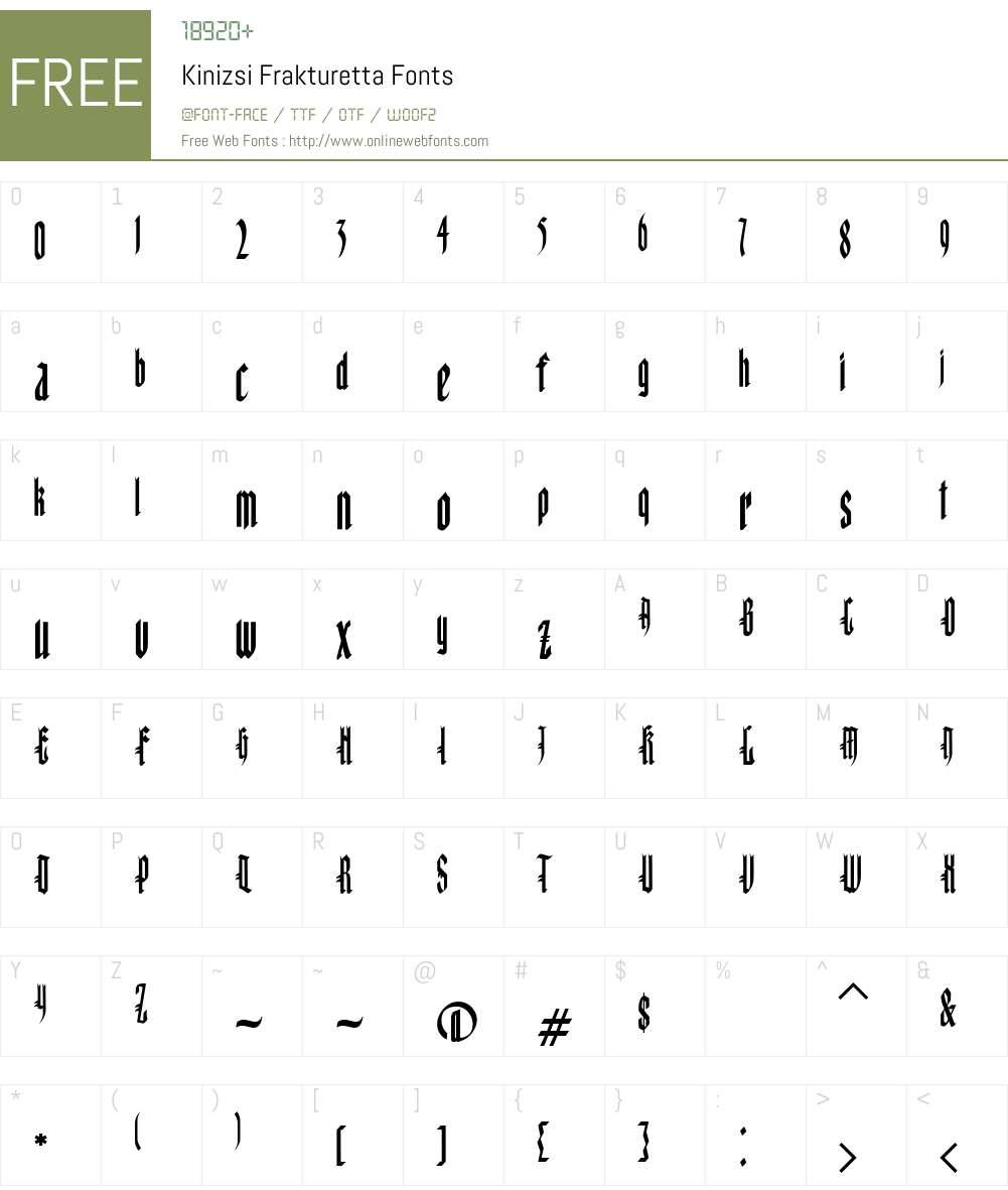 Kinizsi Font Screenshots