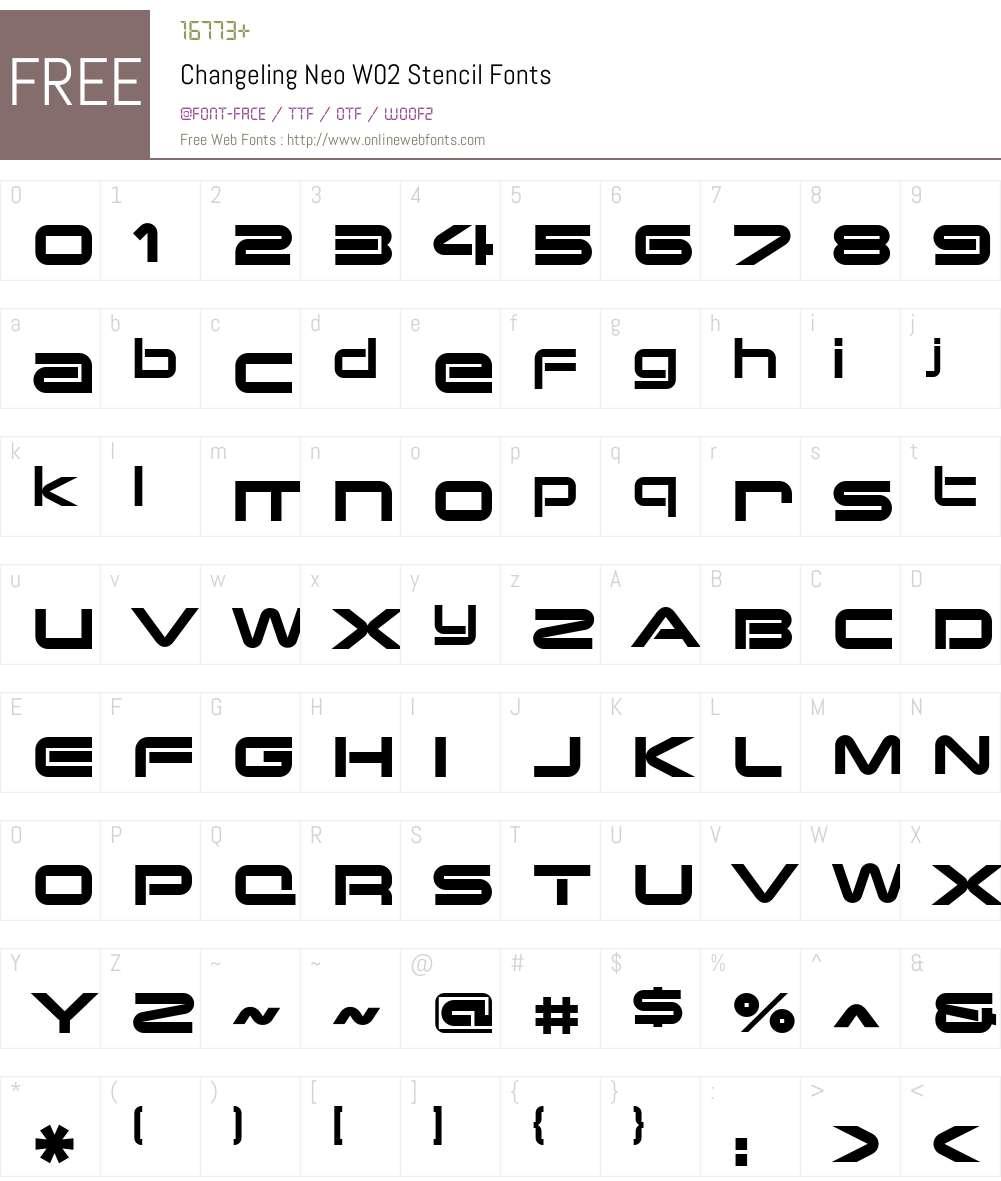 Changeling Neo Font Screenshots