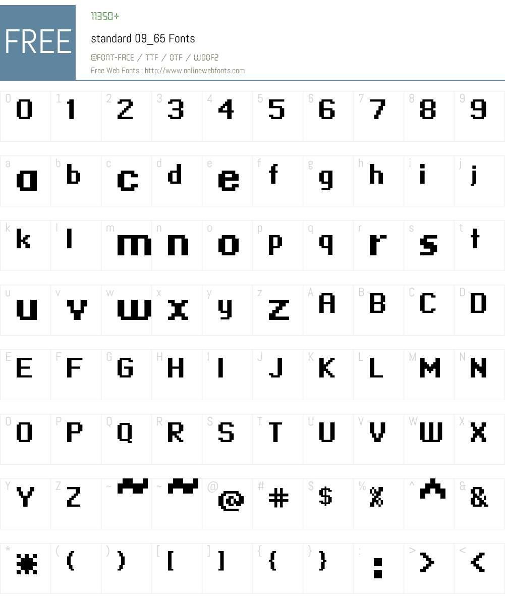 standard 09_65 Font Screenshots
