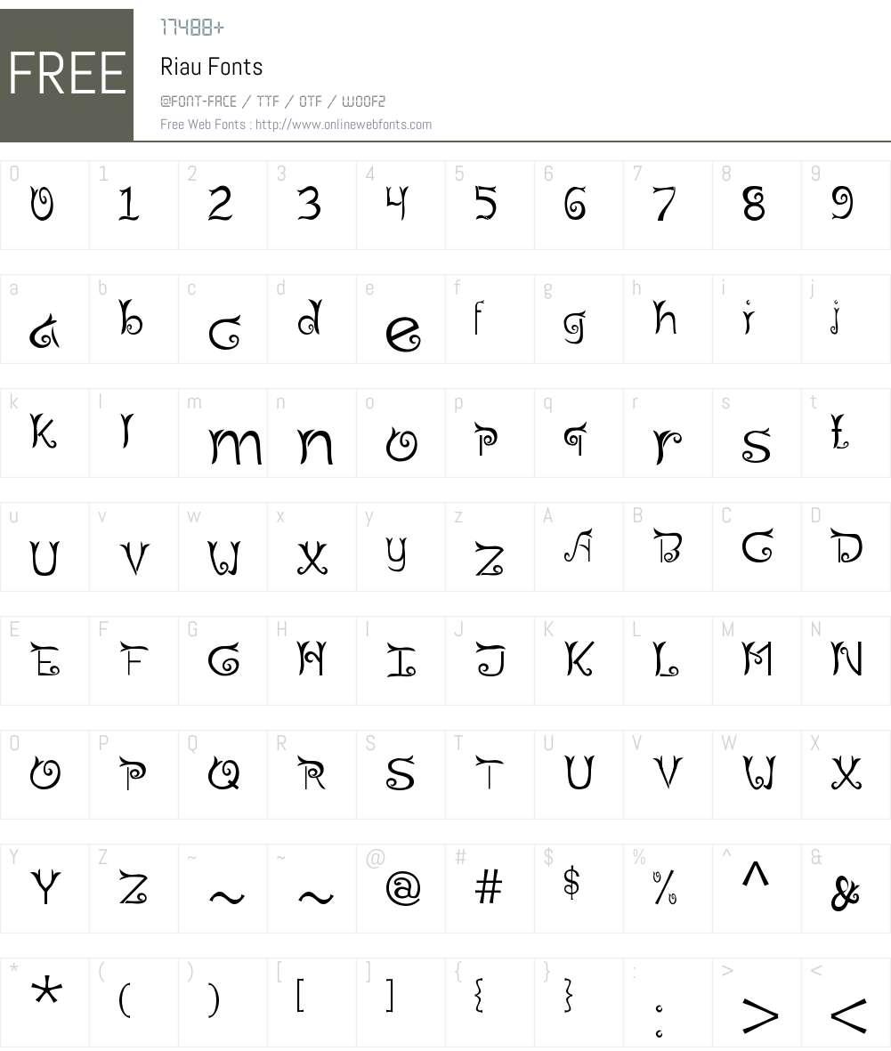 Riau Font Screenshots