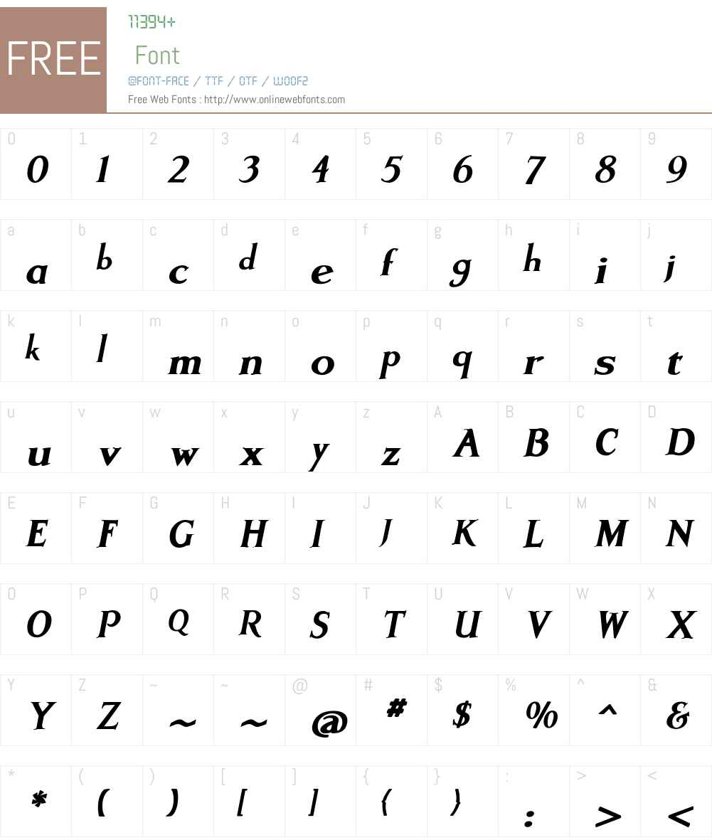 ArtimasW00-BlackItalic Font Screenshots