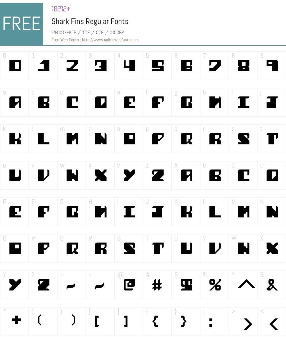 Shark Fins Font Screenshots