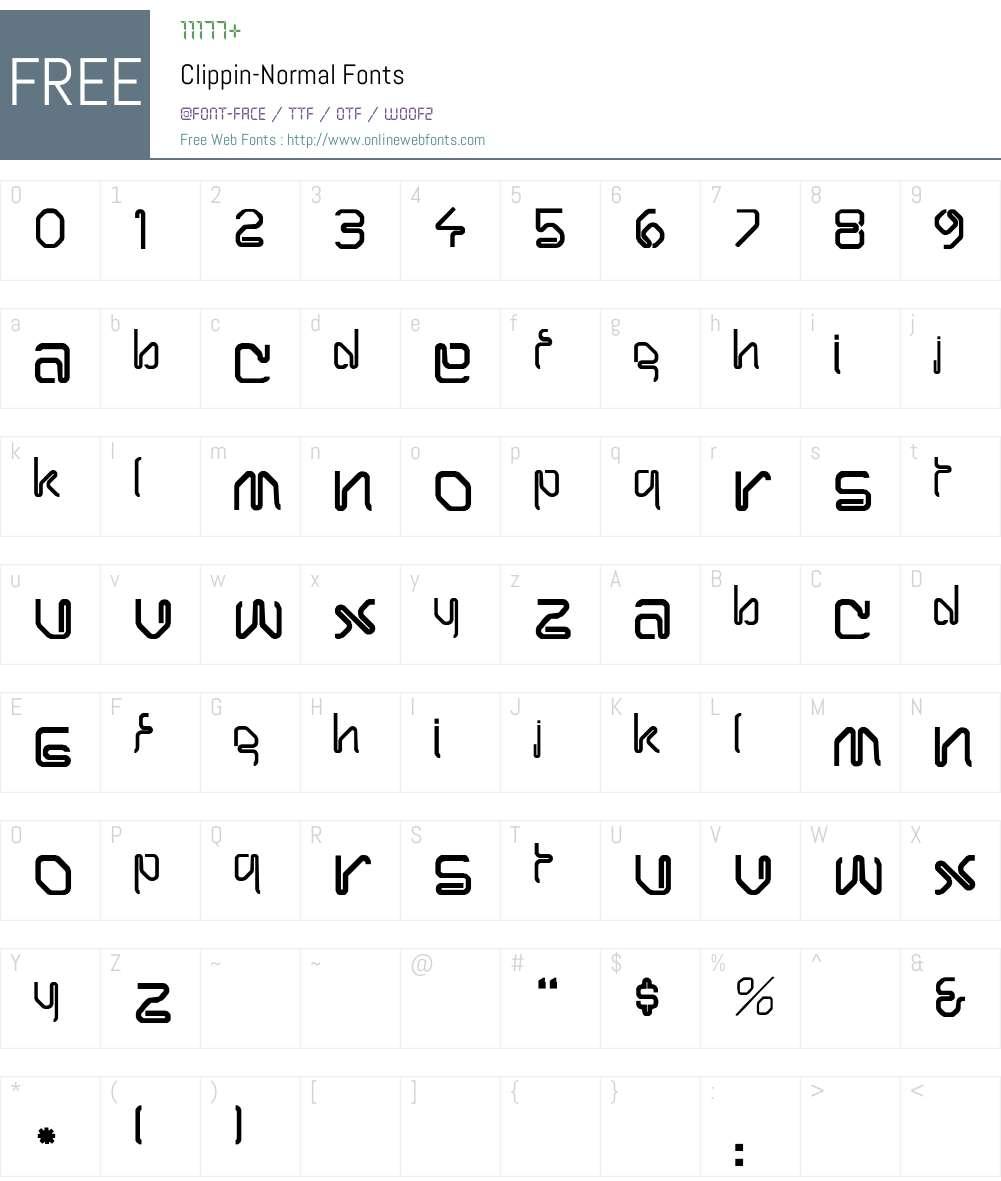 Clippin-Normal Font Screenshots