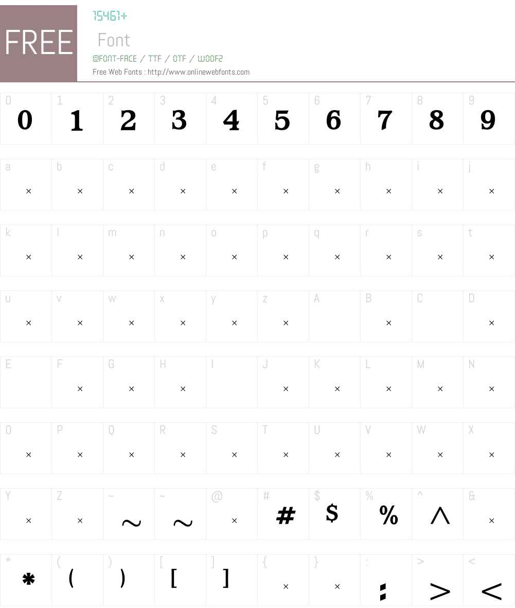 WaverlyExtraBoldTab Font Screenshots