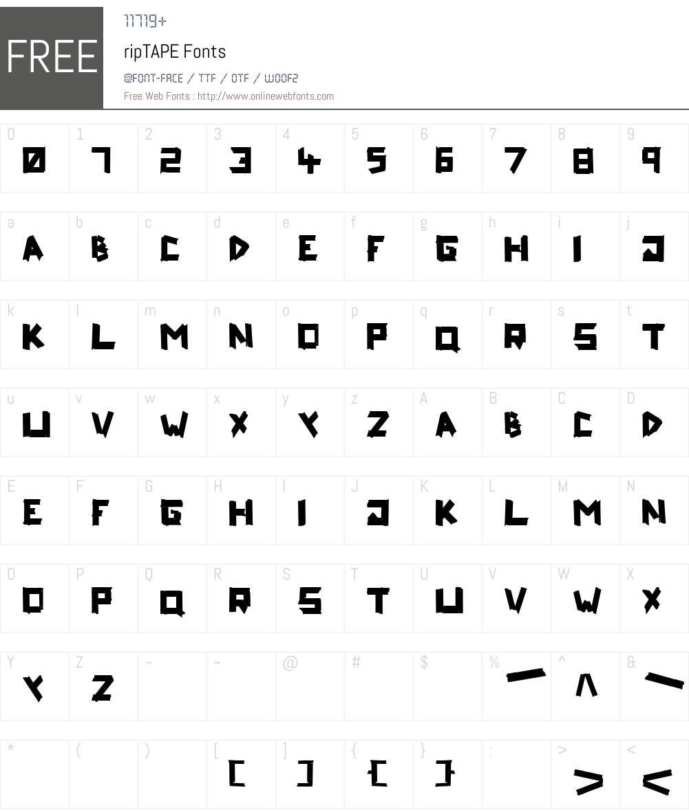 ripTAPE Font Screenshots