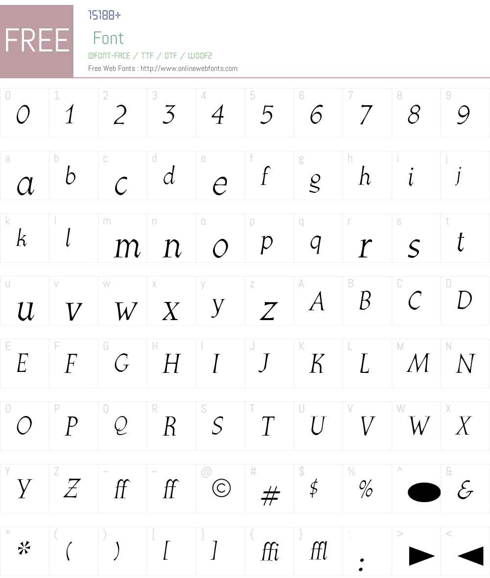 CgAthenaeumItalic Font Screenshots