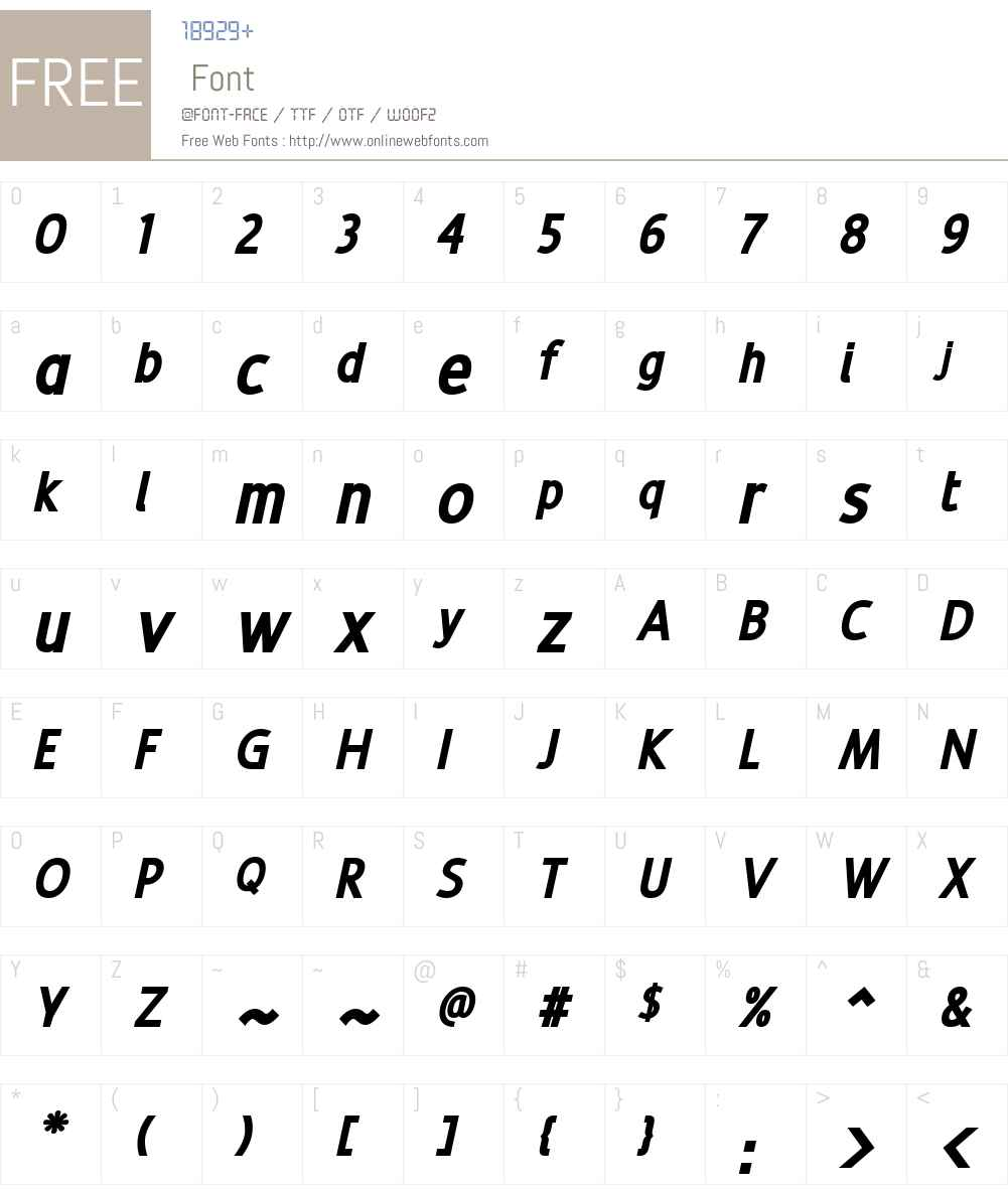 Revalo ClassicBlack Italic Font Screenshots