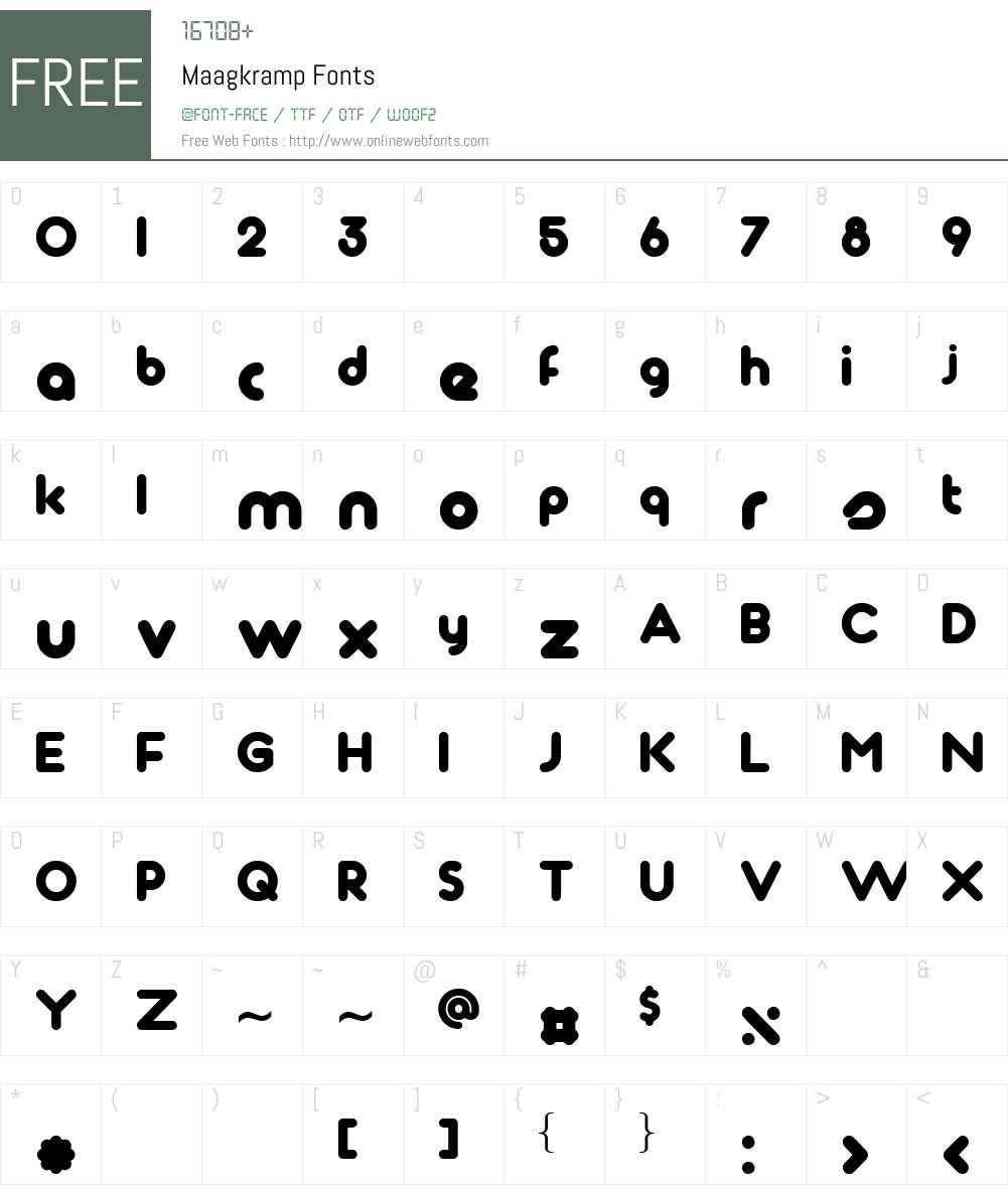 Maagkramp Font Screenshots