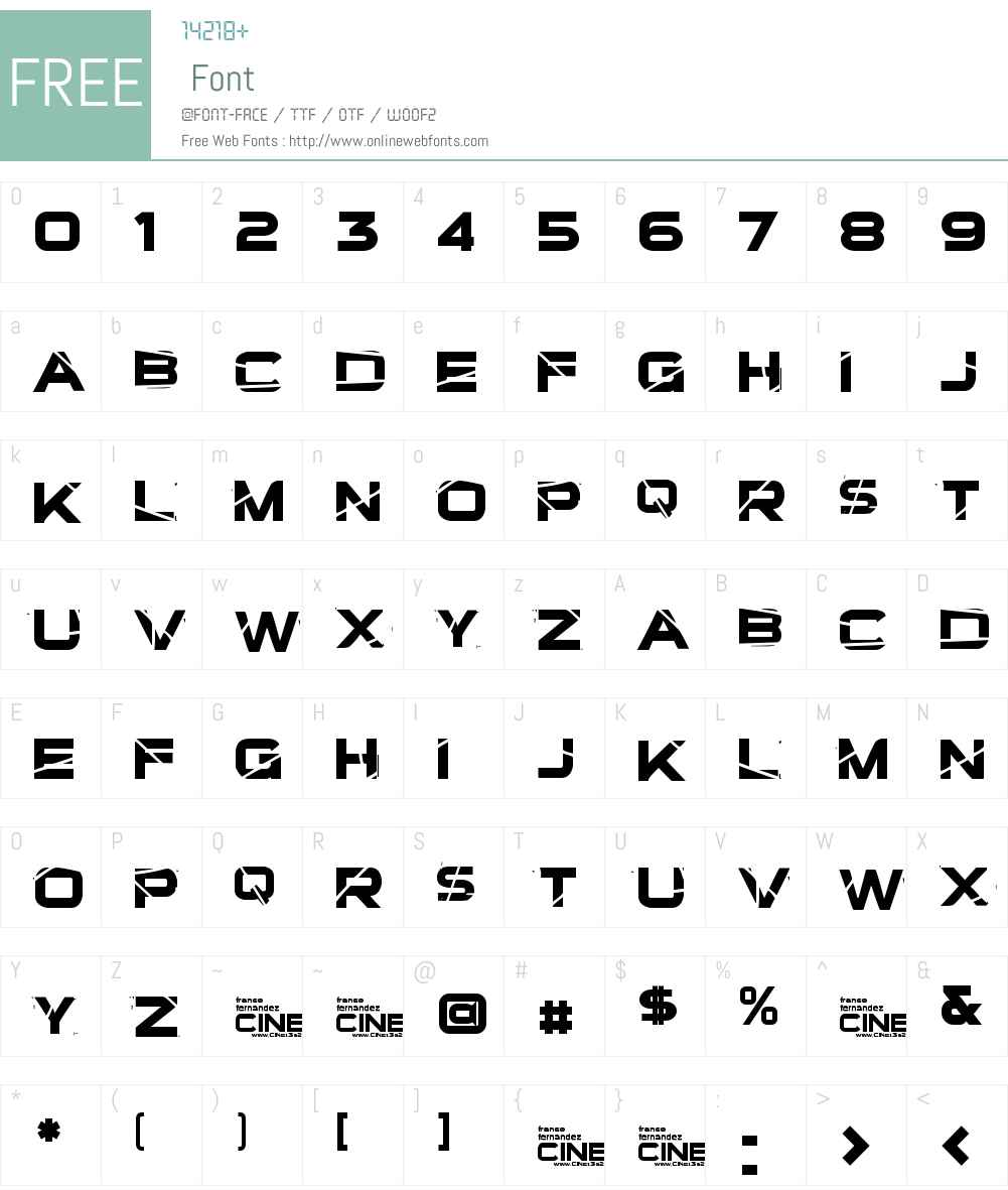 TSalvacion Font Screenshots
