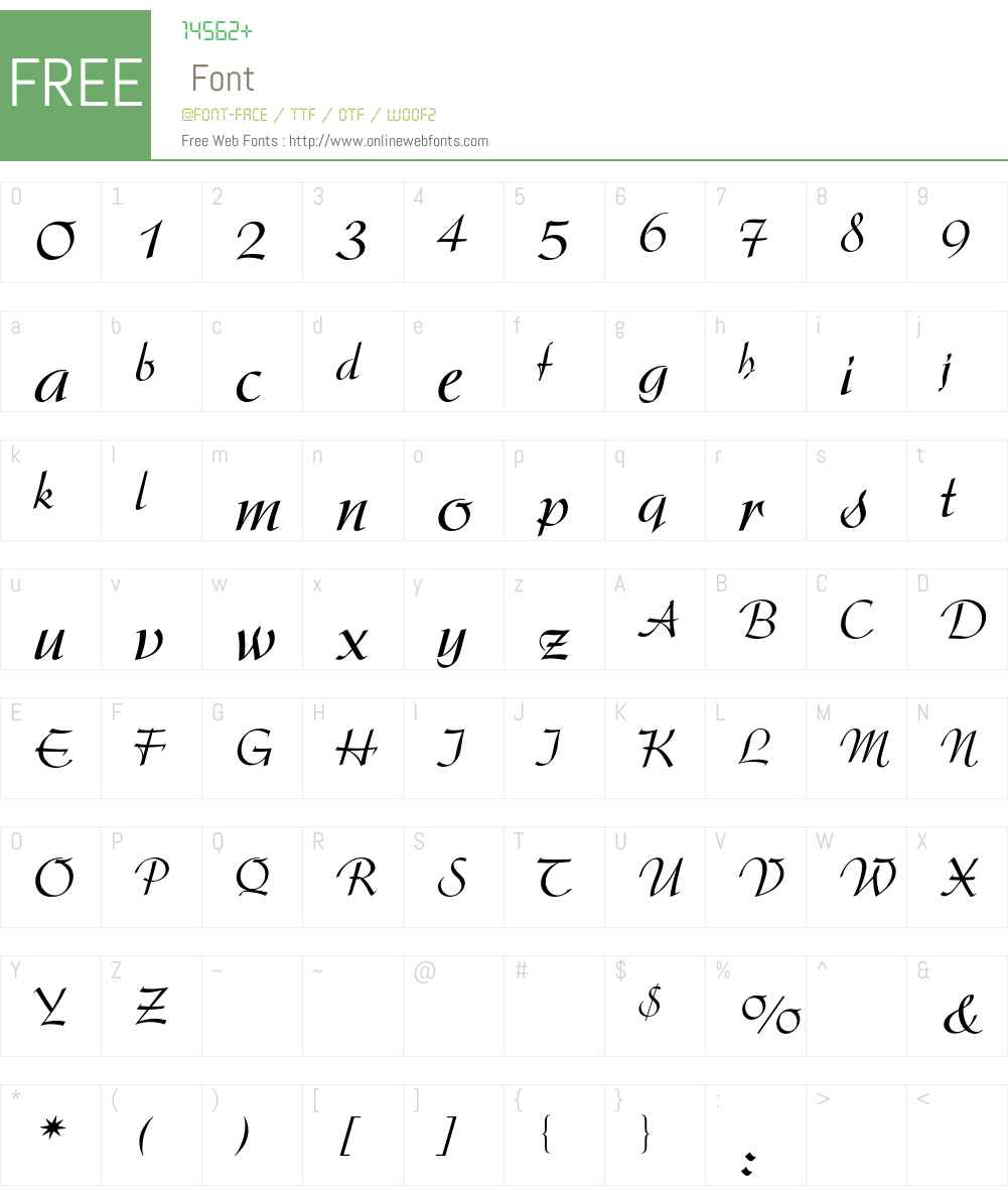 Arkona BQ Font Screenshots