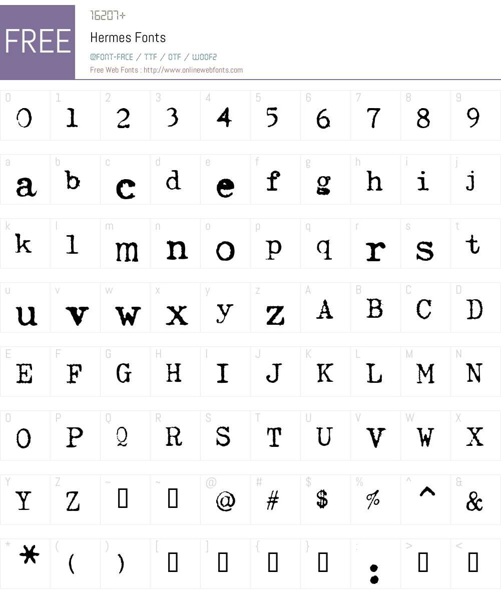 Hermes Font Screenshots