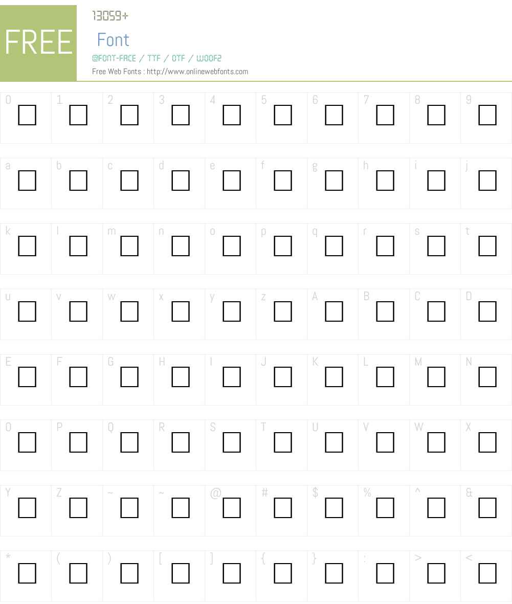 DRIVE Font Screenshots
