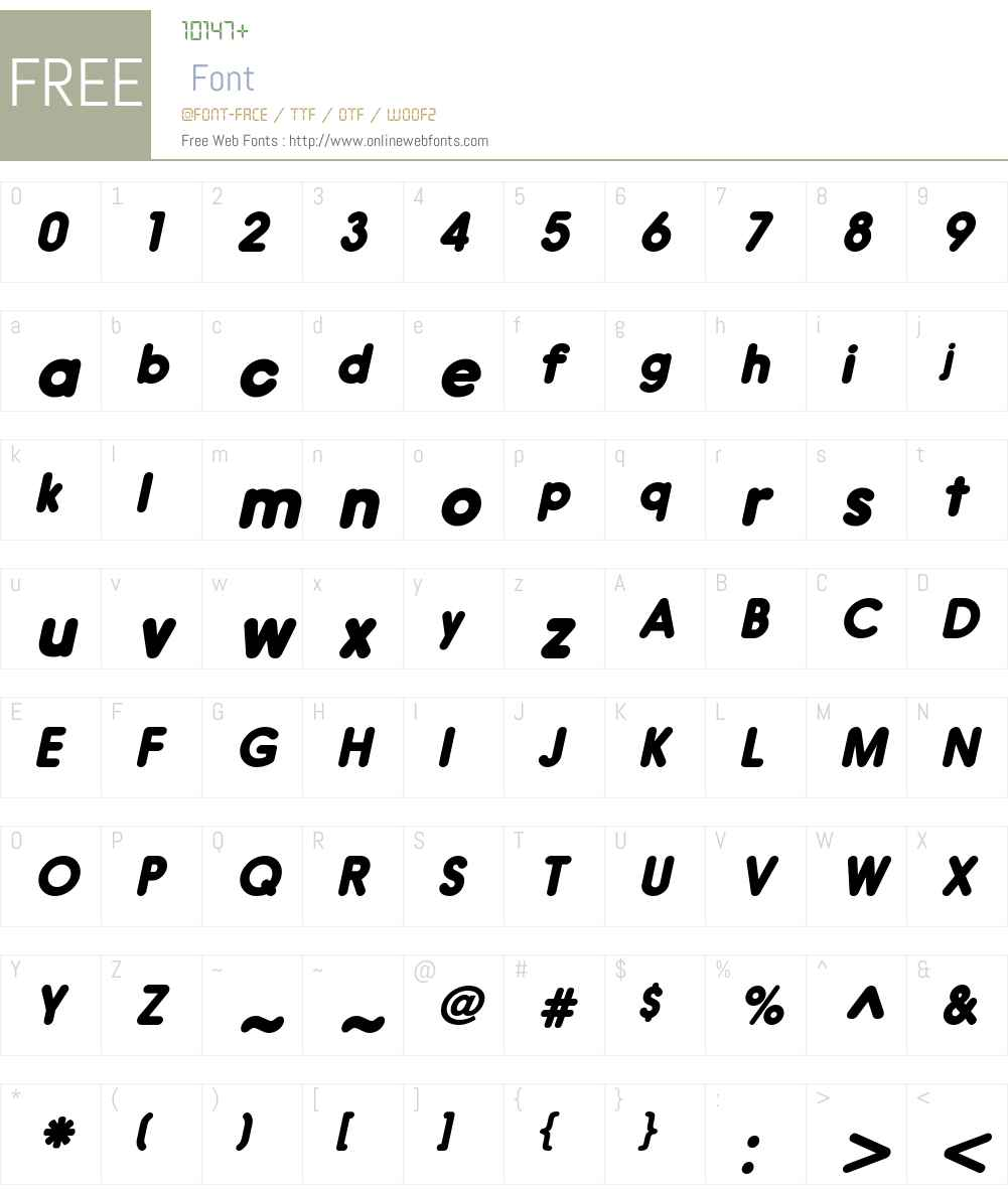 HirukoW01-BlackOblique Font Screenshots