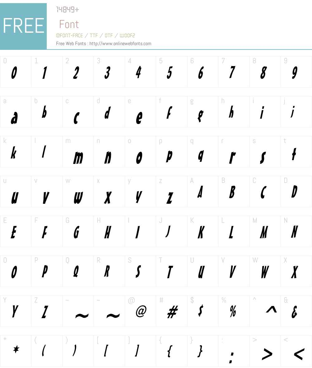 Massey Thin Font Screenshots