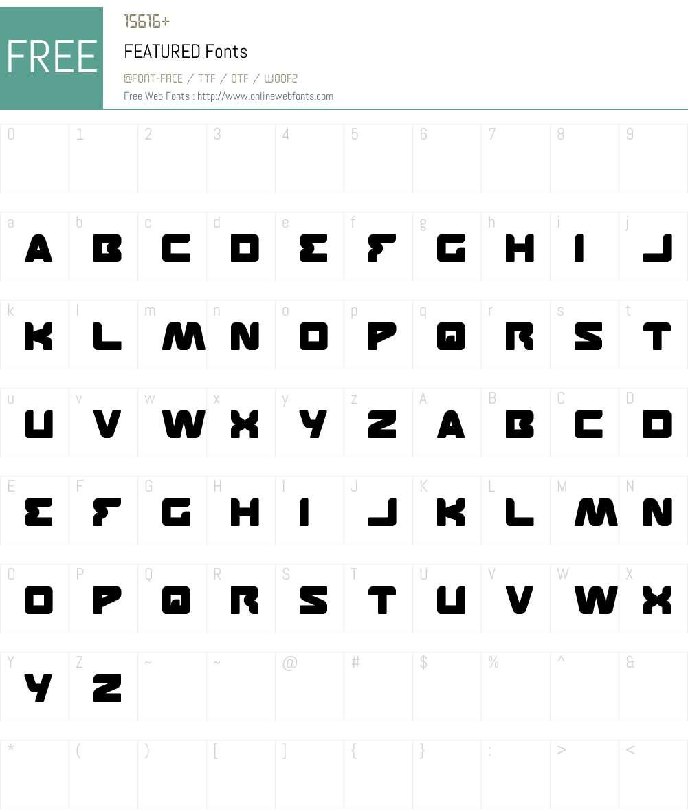 FEATURED Font Screenshots