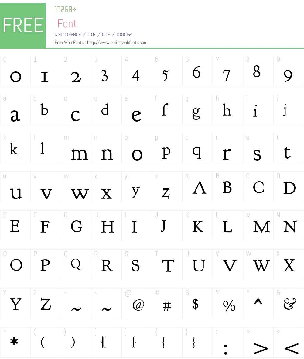 Goudy Bookletter 1911 Font Screenshots