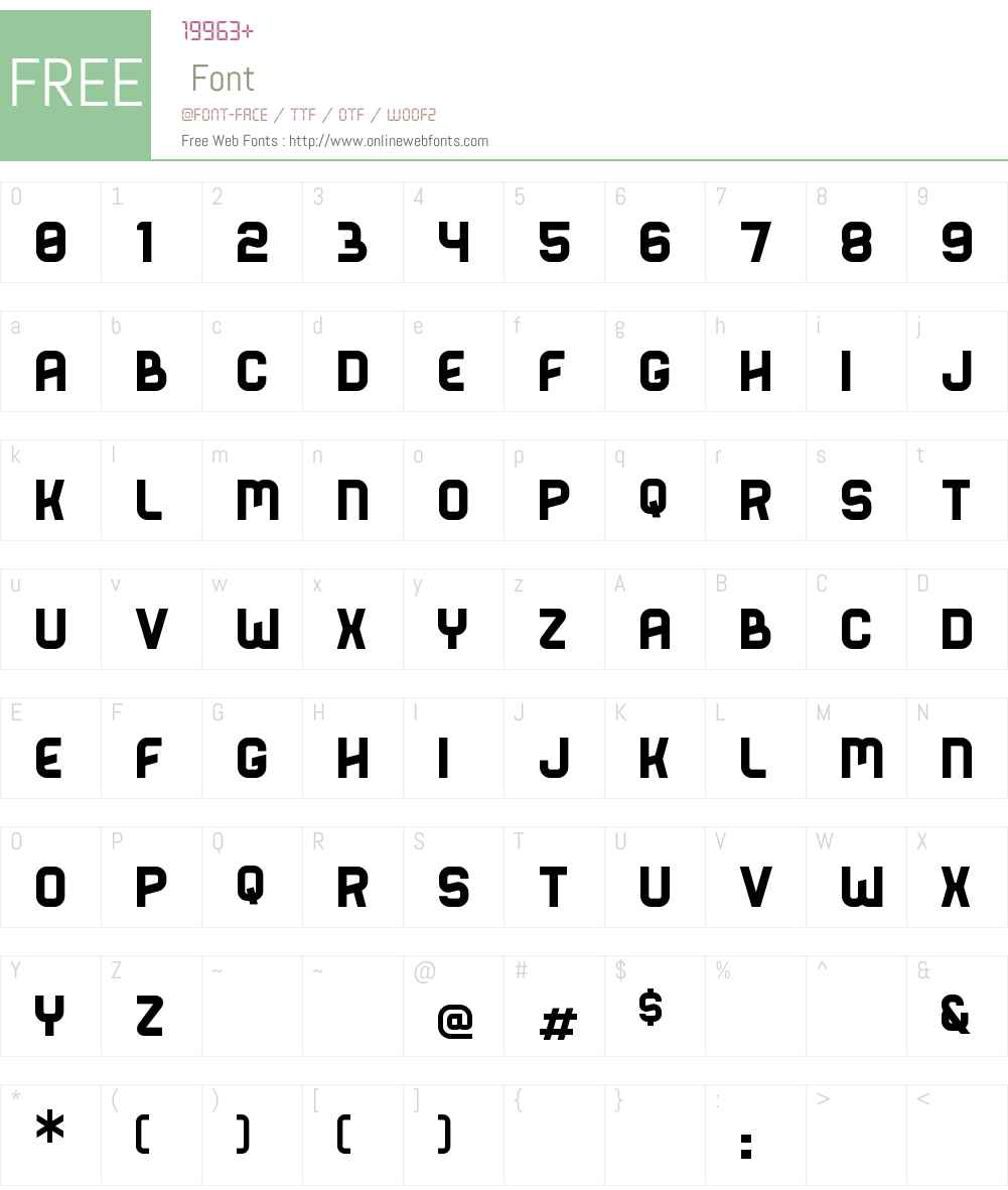 Bender Solid Font Screenshots