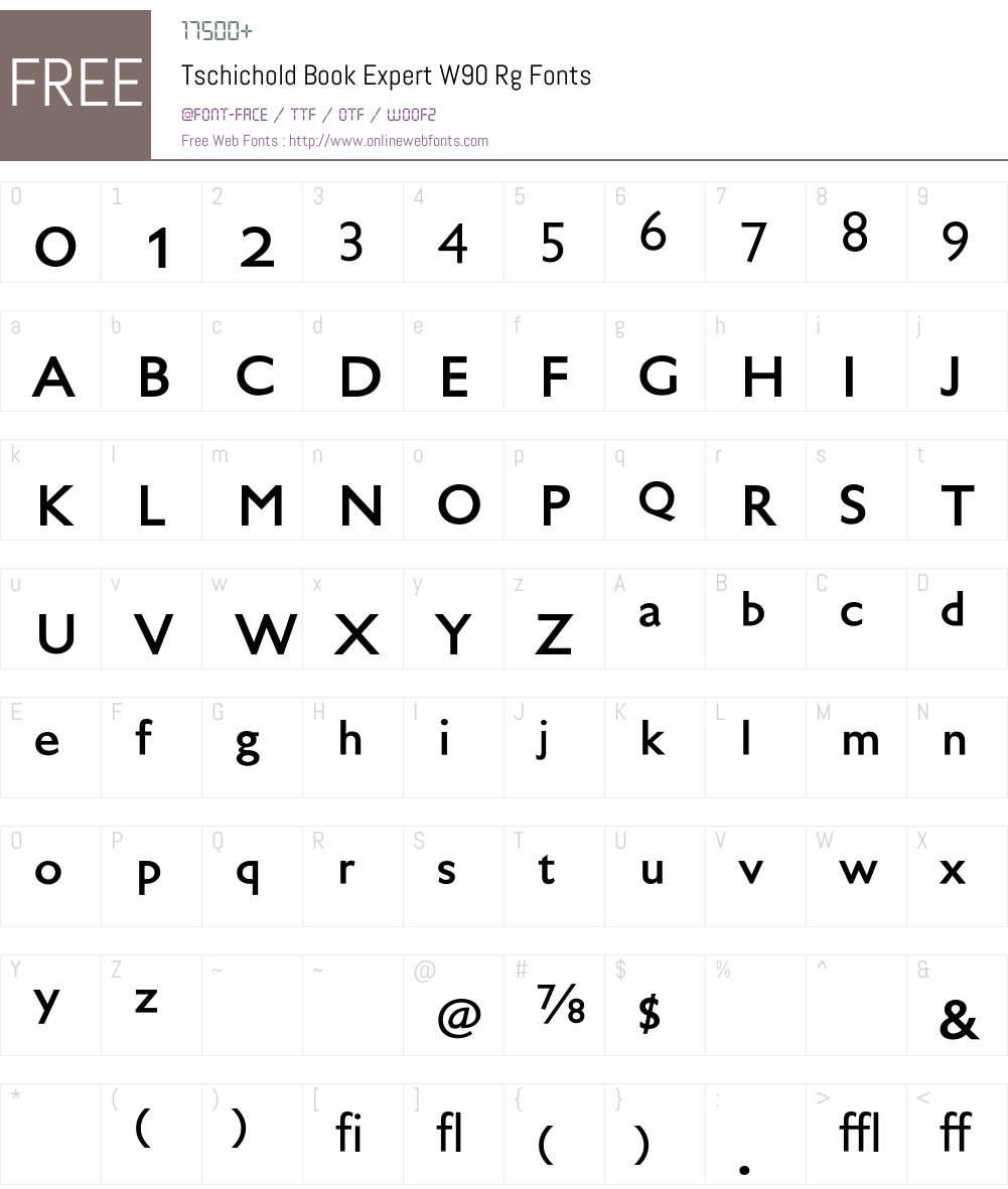 TschicholdBookExpertW90-Rg Font Screenshots