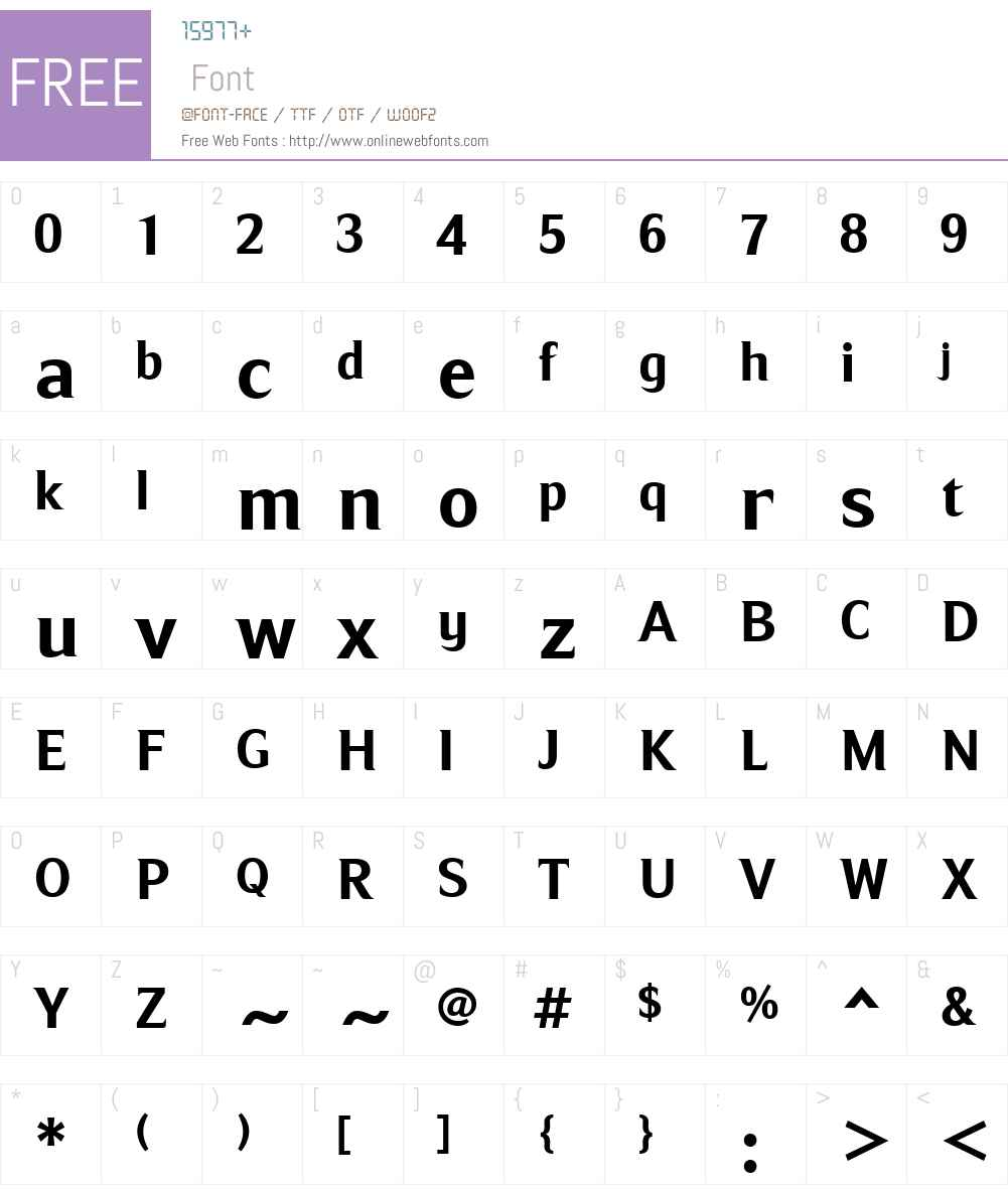 RipeApricotW01-Bold Font Screenshots