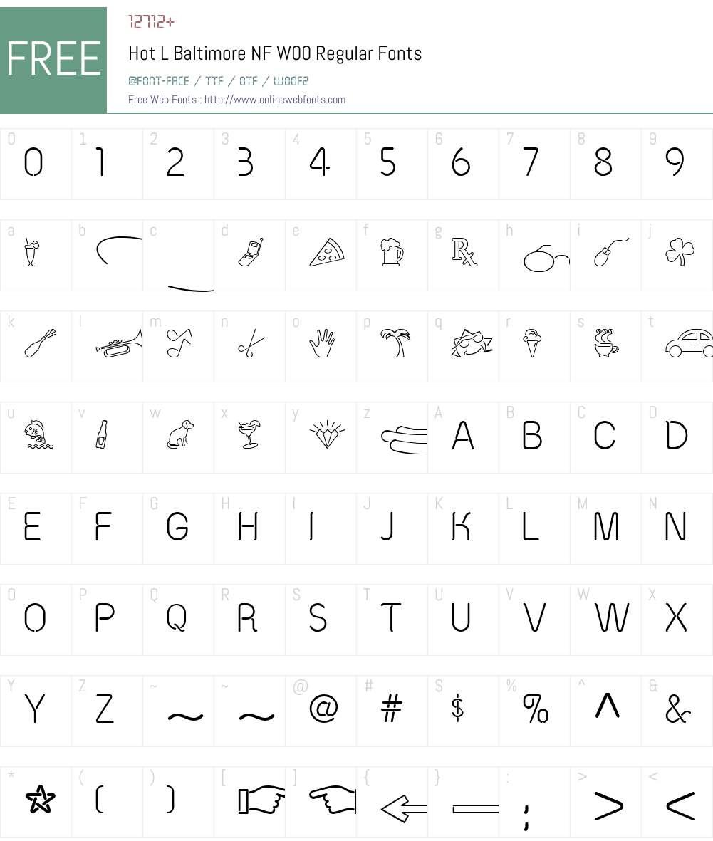 HotLBaltimoreNFW00-Regular Font Screenshots