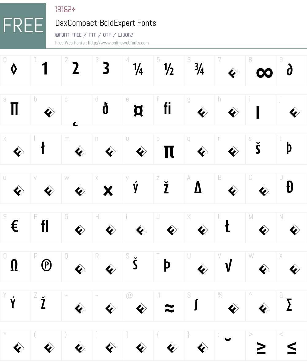 DaxCompact-BoldExpert Font Screenshots