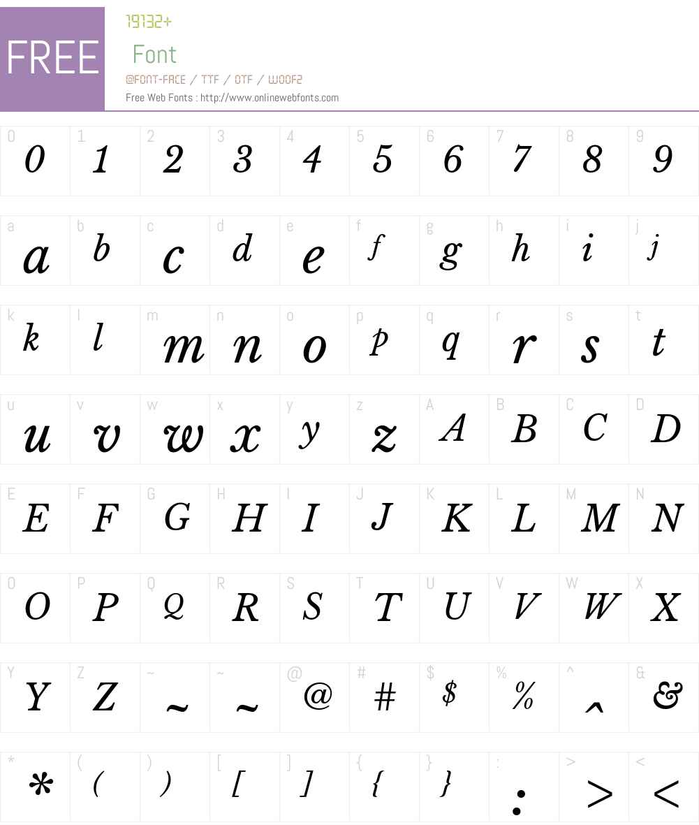 Libre Baskerville Font Screenshots