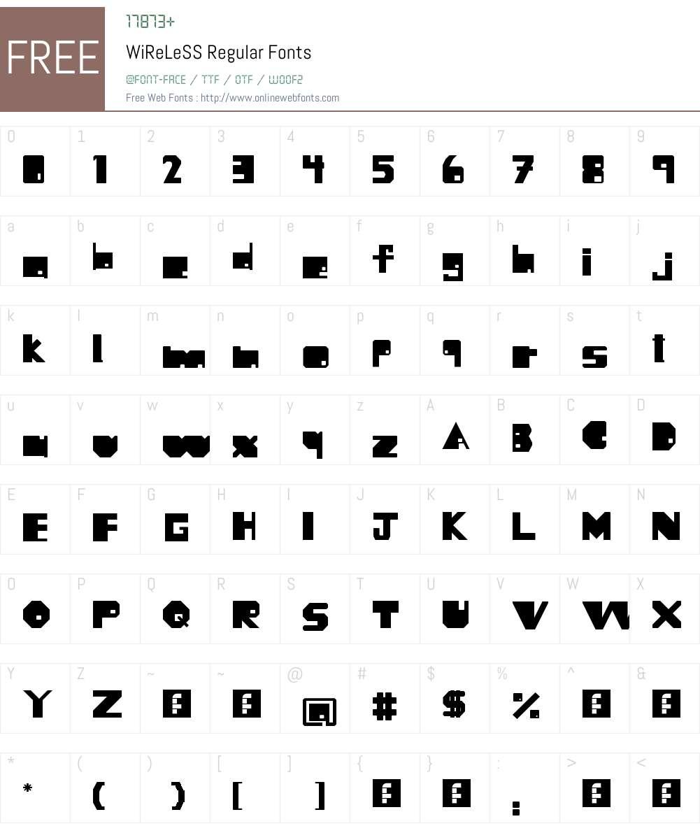 WiReLeSS Font Screenshots