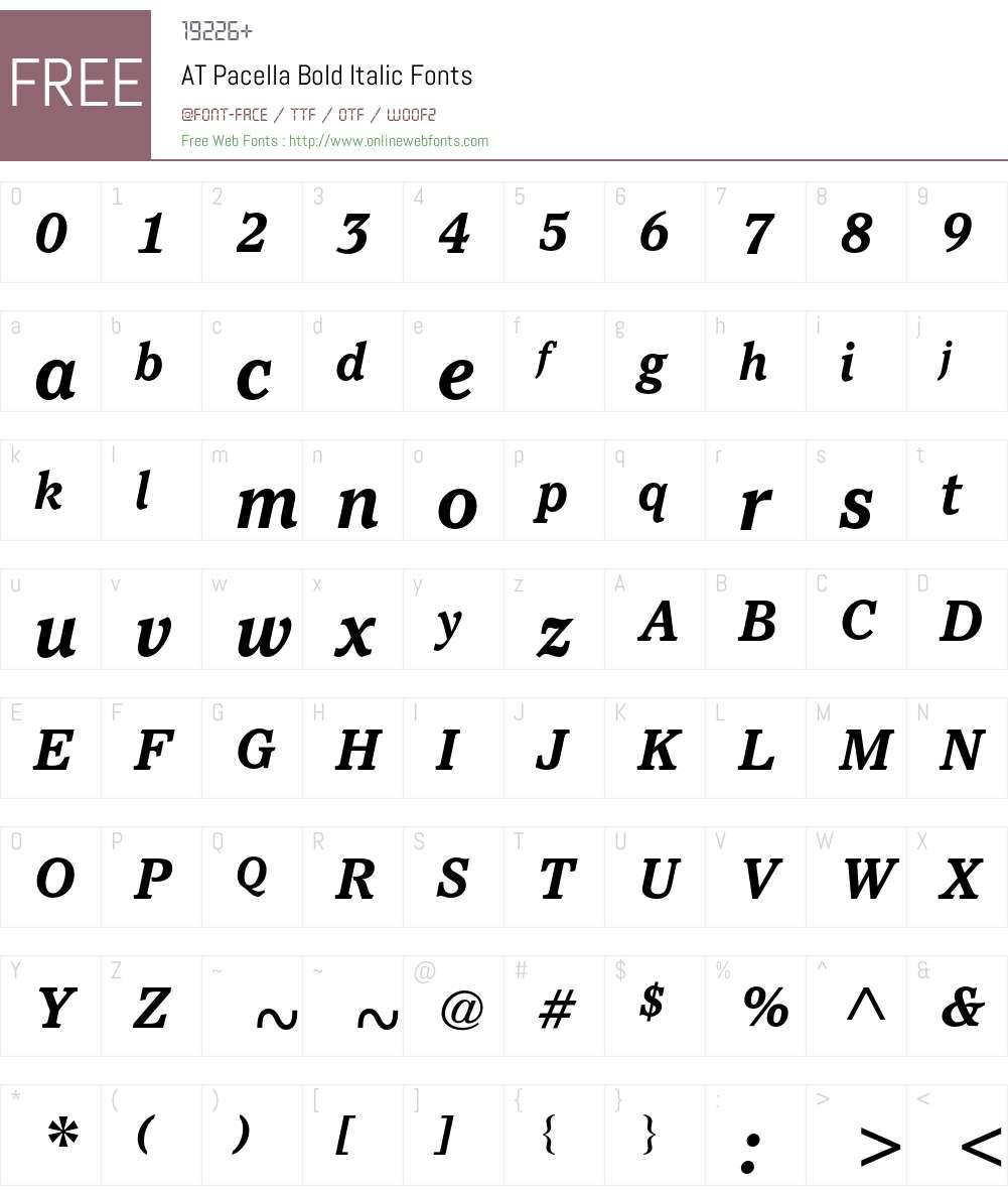 ATPacella Font Screenshots