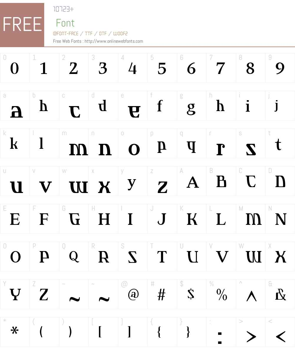 Dee Serif Font Screenshots