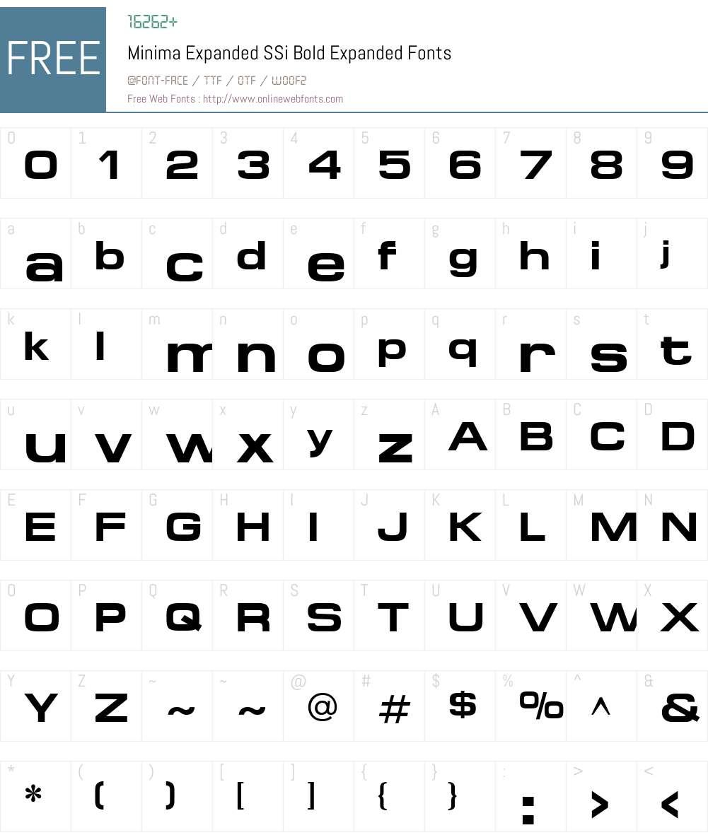 Minima Expanded SSi Font Screenshots