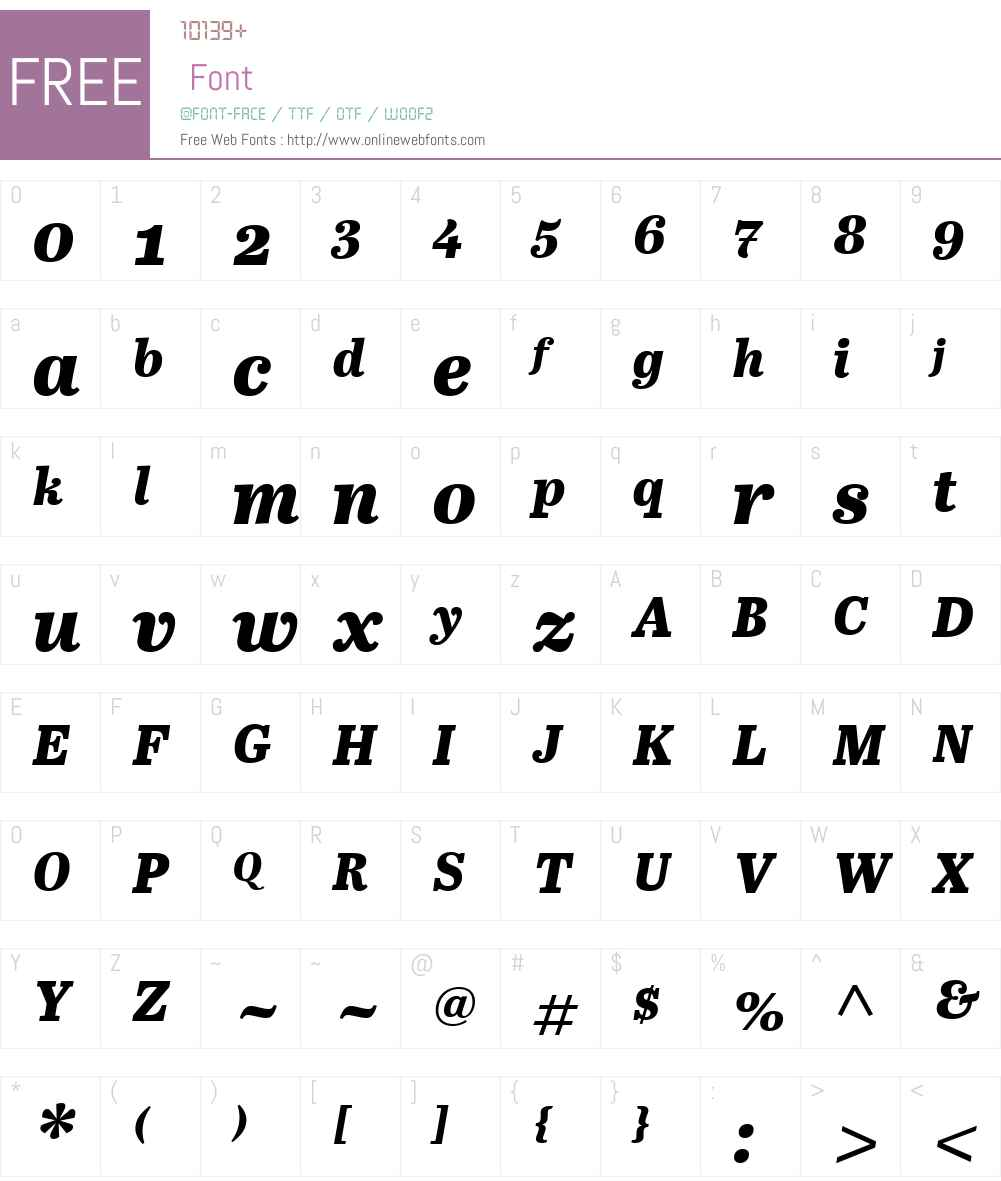 AbrilW01-TextXBoldItalic Font Screenshots