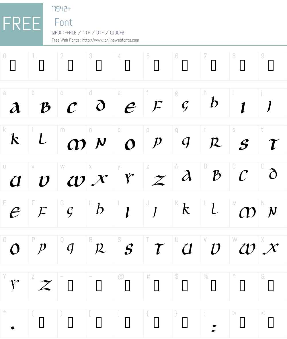 JGJ Uncial Font Screenshots