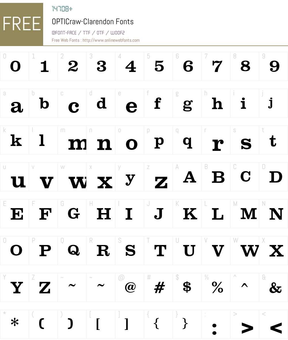 OPTICraw Font Screenshots