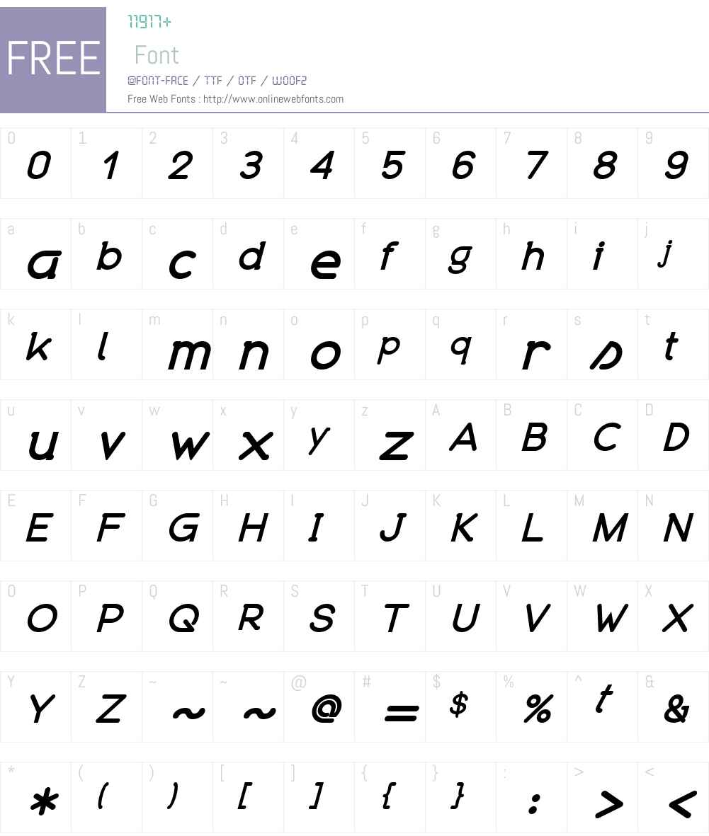 Organicon Font Screenshots