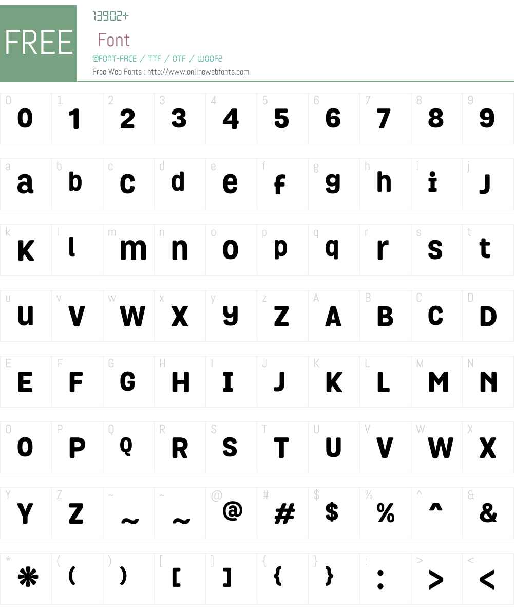 GrotaRoundedW00-ExtraBold Font Screenshots