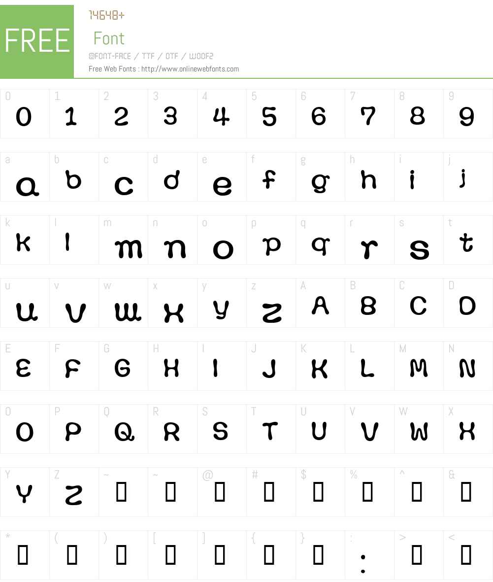 Pawpaw Font Screenshots