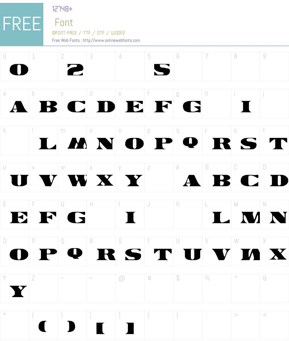 LHF Bank Note REGULAR Font Screenshots